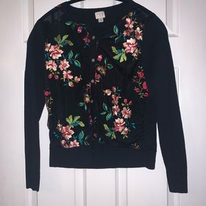 Women's Floral Embroidered Cardi
